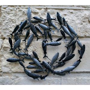 Tableau Métallique Sardines