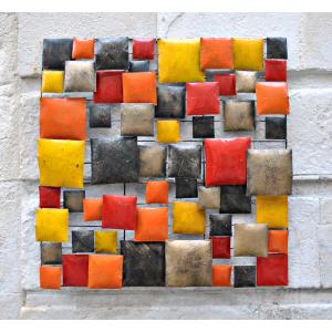 Tableau Métallique Cubes